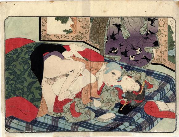 Erotic woodblock prints