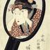 """Hiding Eyebrows"" (<i>Mayu kakushi</i> - 眉かくし) from the series <i>Mirrors of the Modern Boudoir</i> (<i>Imafū keshō-kagami</i> - 今風化粧鏡)"