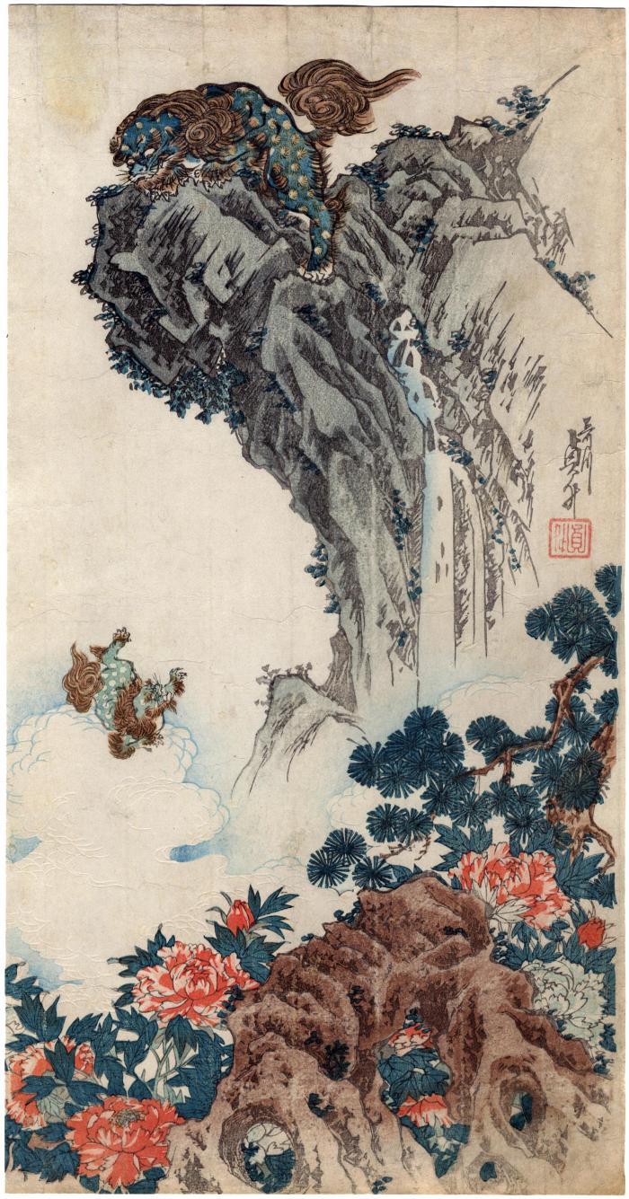 Shishi (Lions) and Peonies
