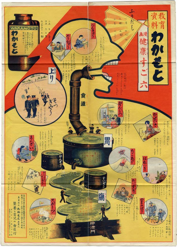 Wakamoto (わかもと) Pharmaceuticals poster