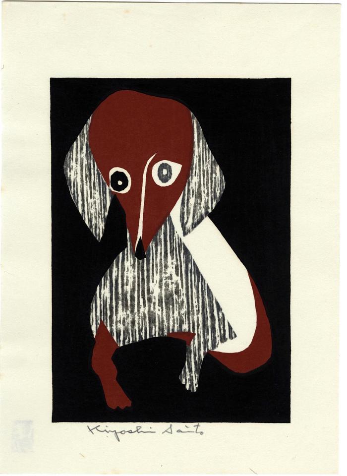 Sitting dachshund