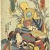 Ichimura Takenojō V (市村竹之丞) as both Monju's Monkey (<i>Monjuzaru</i> - 文殊猿) and a Girl on the Road to Edo (<i>Kaidō kudari</i> - 街道下り), from an untitled series