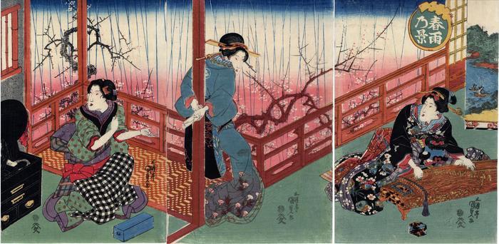 A Scene of Spring Rain (<i>Harusame no kei</i> - 春雨乃景)