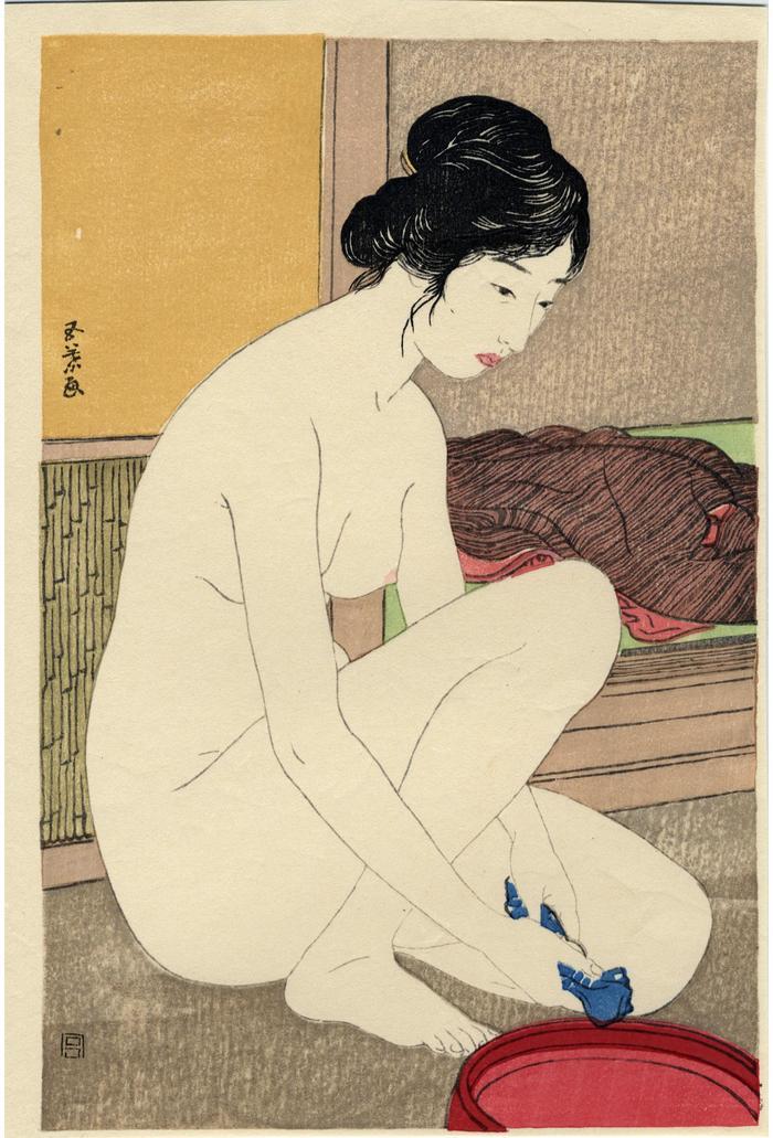 Woman at the bath (<i>Yokujō no onna</i> - 浴場の女)