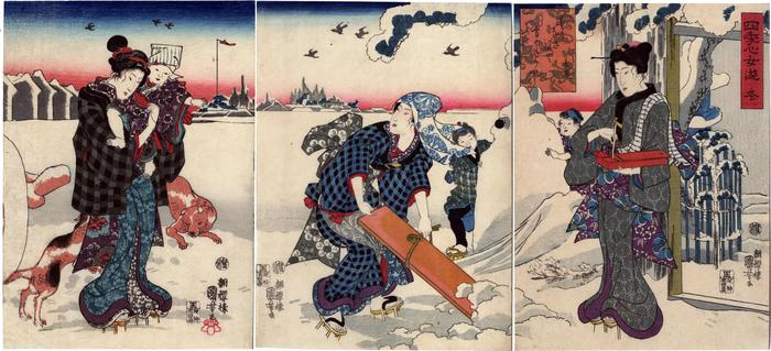 Winter (<i>Fuyu</i> - 冬), from the series Pleasures of Women at the Height of the Four Seasons (<i>Shiki no kokoro onna asobi</i> - 四季心女遊)
